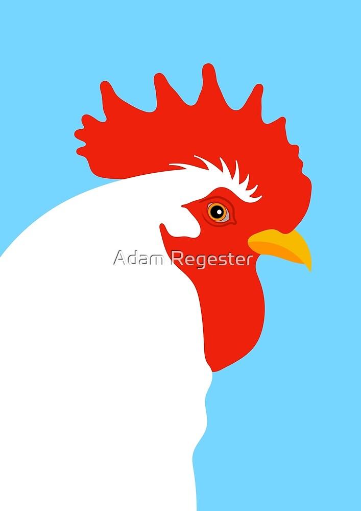 Cockerel Portrait Illustration by Adam Regester