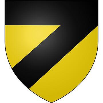 French France Coat of Arms 15277 Blason ville fr Saint Salvi de Carcavès Tarn by wetdryvac