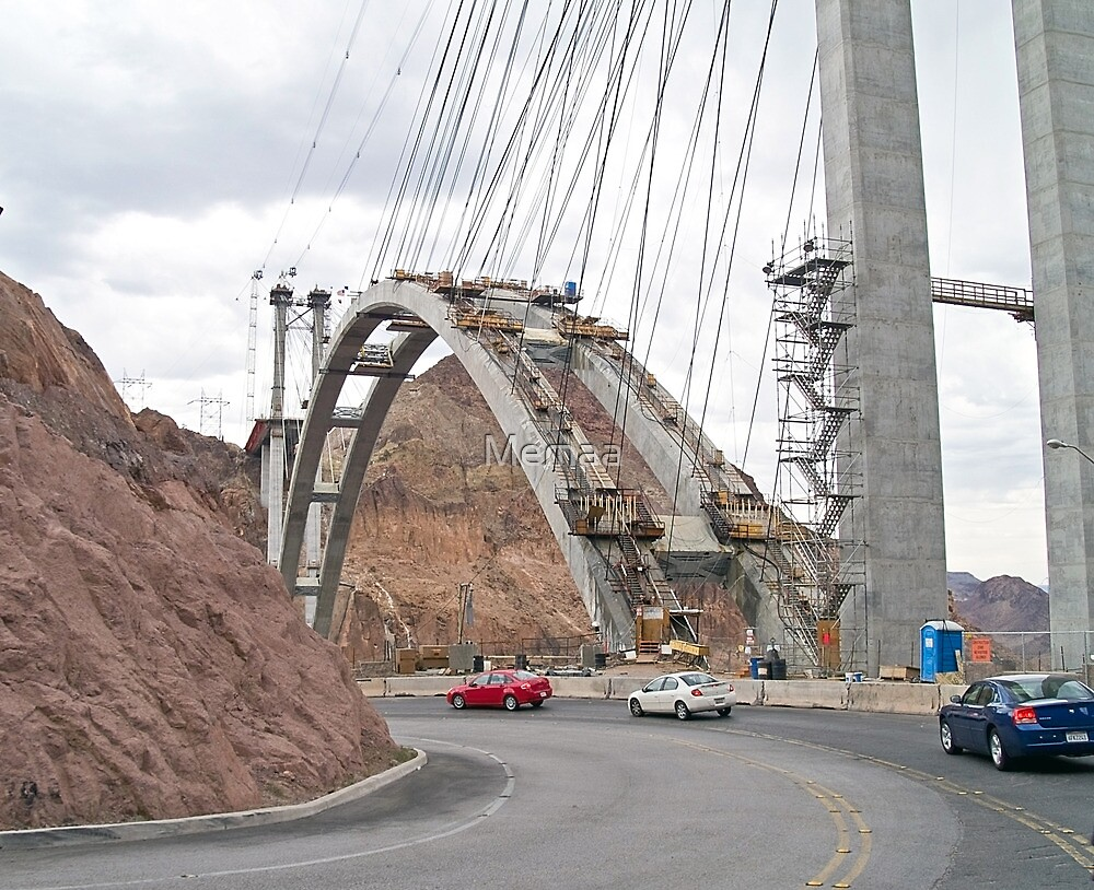 Construction of new bridge at Hoover Dam by Memaa