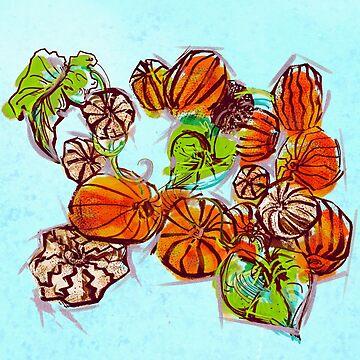 Pumpkin Patch by minniemorrisart