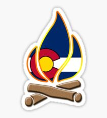 Colorado Campfire Sticker