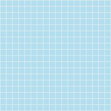 White Grid On Soft Pastel Sky Blue by rewstudio