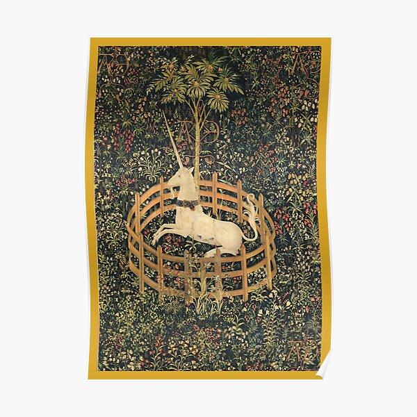 UNICORN in Captivity Tapestry Poster
