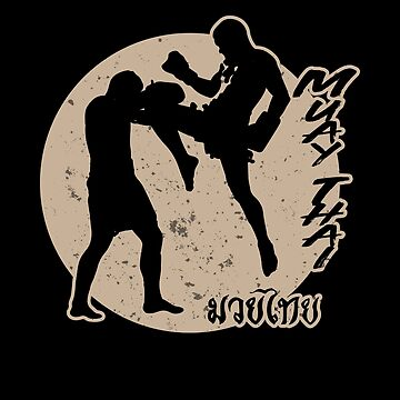 Muay Thai Sun Master Cute Martial Fight Sports Gold by zot717