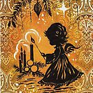 Vintage Christmas Eve Angel by edsimoneit