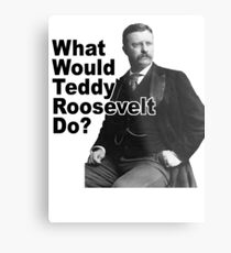 What Would Theodore Roosevelt Do? Metal Print