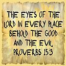 The Eyes of the Lord - Proverbs by kj dePace'