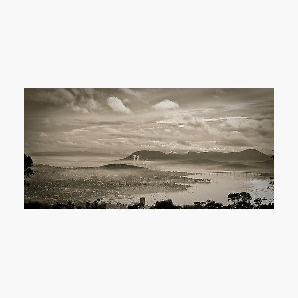Hazy Hobart, Tasmania Photographic Print