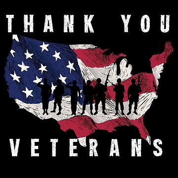Veterans,Thank You American Flag Gift T-shirt by EvolMissing
