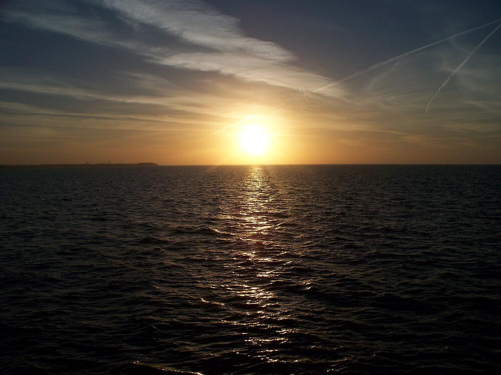 Gulf Coast Evening sky  by adejiaslife