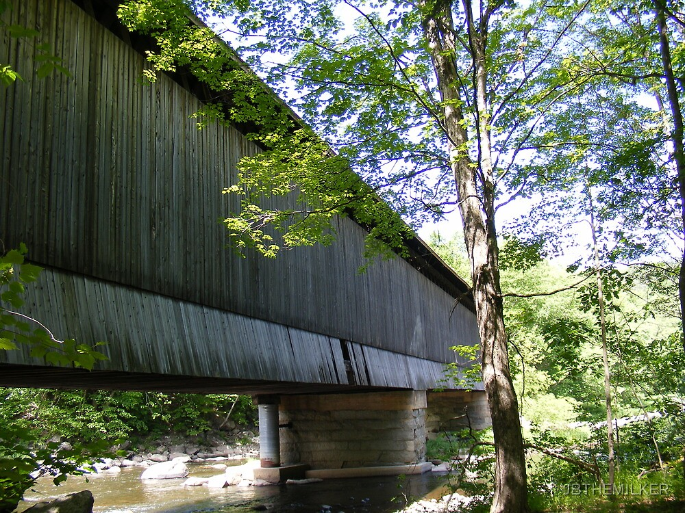 Under one of the few covered railway bridges in New Hampshire.  by JBTHEMILKER