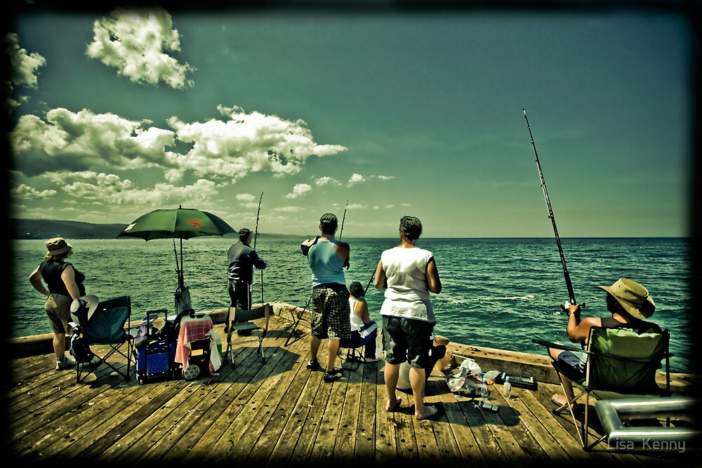 fishing at Lorne by Lisa Kenny
