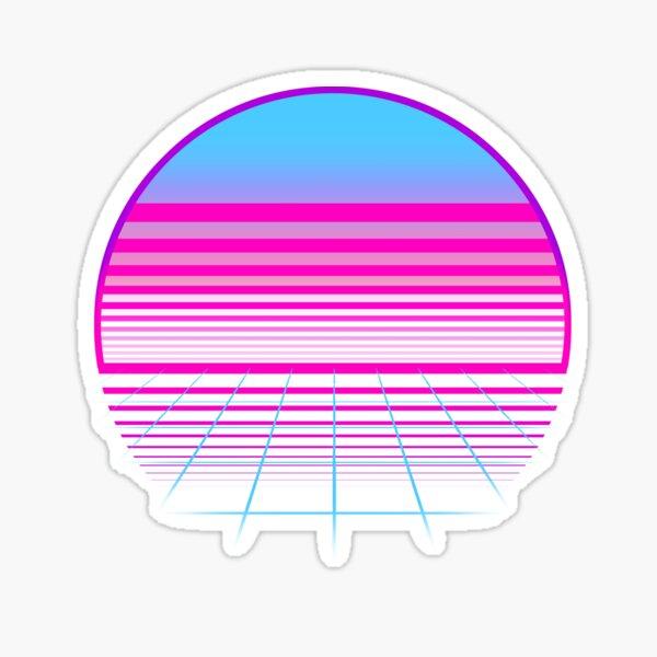 Trans Flag Sunset Sticker