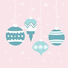 retro teal christmas ornaments by SylviaCook