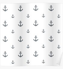 Cool-Gray Anchors Poster