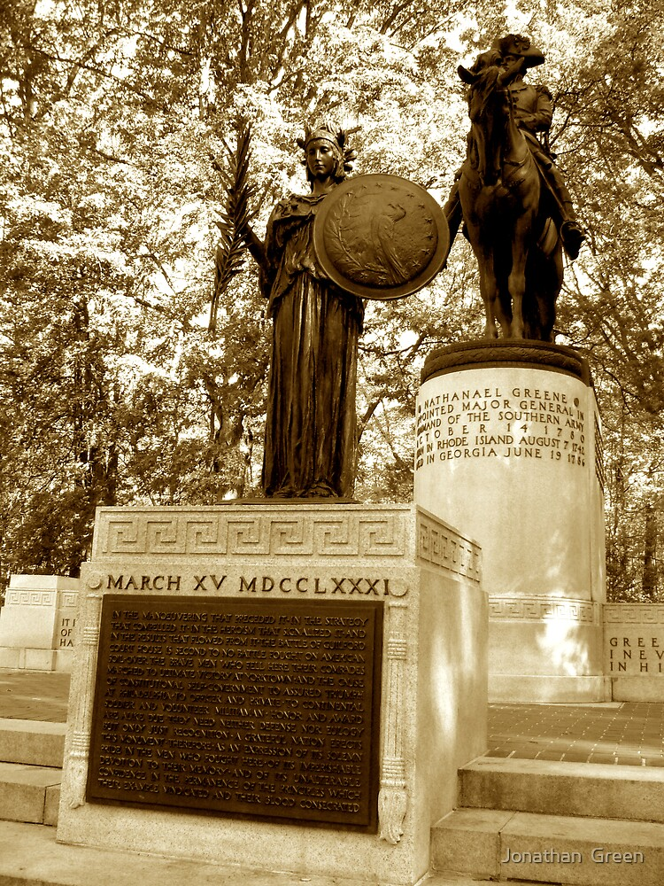 Major General Nathanael Greene Monument by Jonathan  Green