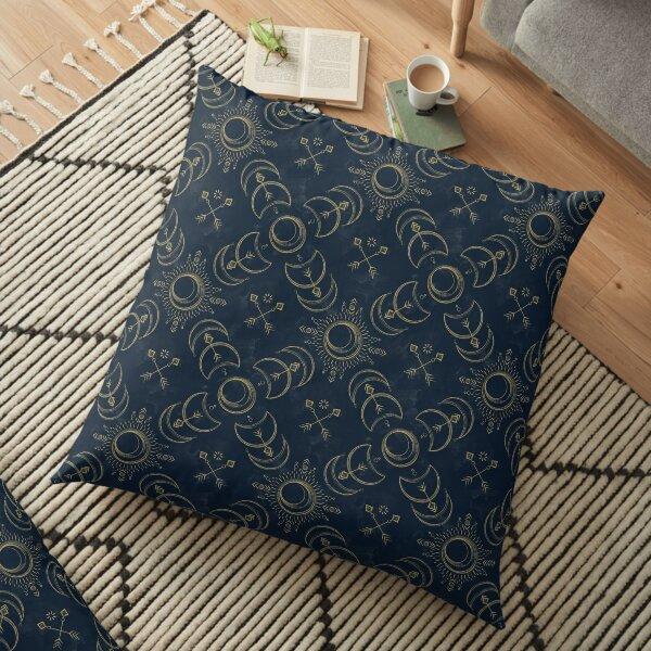 Bohemian Solar Eclipse- Gold Floor Pillow