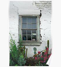 Window, San Juan Bautista Poster