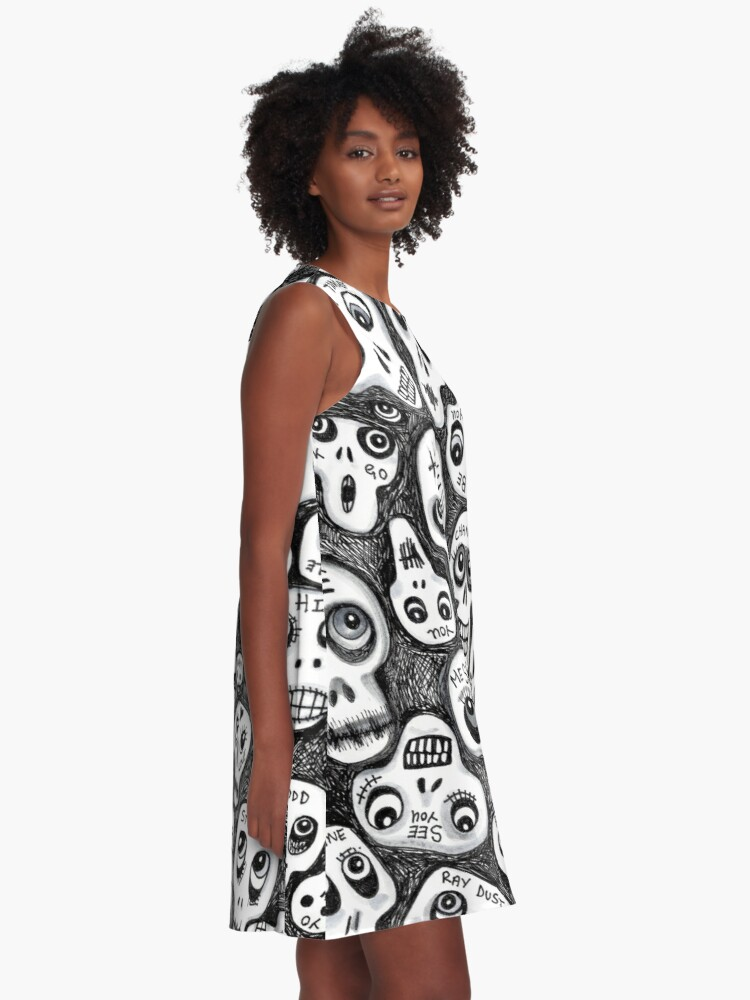 Alternate view of The Skull People A-Line Dress