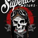 Zombie Bike Mechanic, Garage T-shirt, Motorbike Mechanics T-shirts, Gear Heads, Motorcycle Repair, Skull and Goggle with Wrenches, Motorcycle Mechanics Shop, Biker Engine Repair T-shirt by Robert Diebold