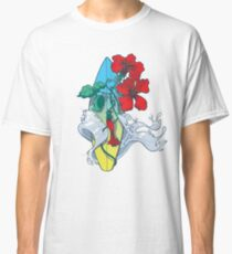 Wave in bloom - Surfboard with Hibiscus  Classic T-Shirt