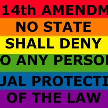 "The 14th Amendment: "" No State Shall Deny Any Person Equal Protection Of The Law"" by bebebelle"
