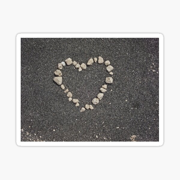 sand heart Sticker
