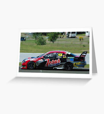 V8 supercar.13 Greeting Card