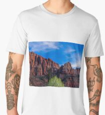 Zion National Park - The Altar of Sacrifice Men's Premium T-Shirt