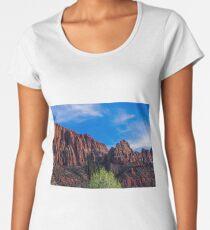 Zion National Park - The Altar of Sacrifice Women's Premium T-Shirt