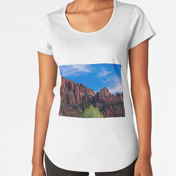 Zion National Park - The Altar of Sacrifice Premium Scoop T-Shirt