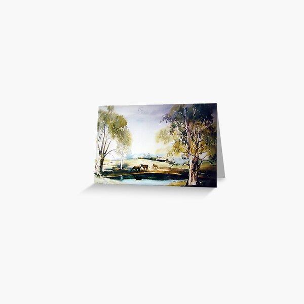 Samford Dam  Australian Landscape Greeting Card