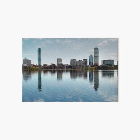 Boston Skyline from John Hancock to Prudential Art Board Print