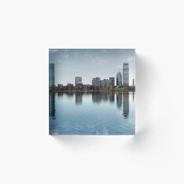 Boston Skyline from John Hancock to Prudential Acrylic Block