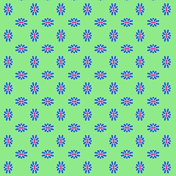 Brights and Green Pattern by BettyMackey