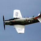 Douglas AD-4N Skyraider by Wayne Gerard Trotman
