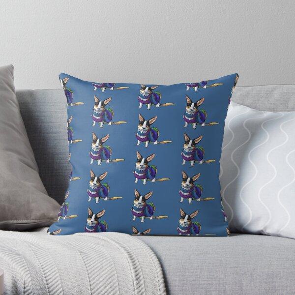 Scarf Corgi - Variant Throw Pillow