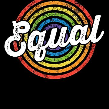 Equal LGBT Pride Ally Shirt Rainbow Flag Colors Gift by 14thFloor