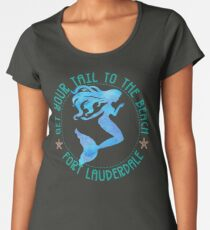 Fort Lauderdale Florida Mermaid Vacation Gear Women's Premium T-Shirt