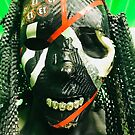 D3AD RAC3R MASK IN GREEN by Createlove1111