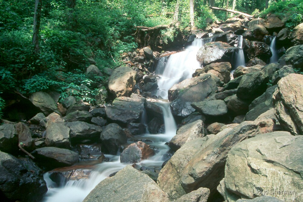 n.c waterfall by Lloyd Sherman