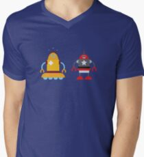 robot love in color Mens V-Neck T-Shirt