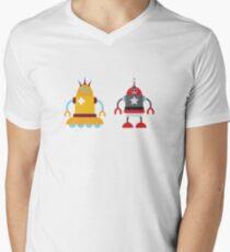robot love in color Mens V-Neck T-Shirt