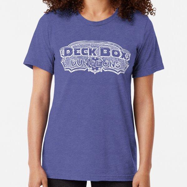 Deck Box Dungeons B/W Logo Tri-blend T-Shirt