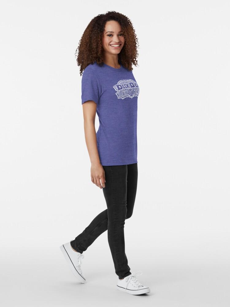 Alternate view of Deck Box Dungeons B/W Logo Tri-blend T-Shirt