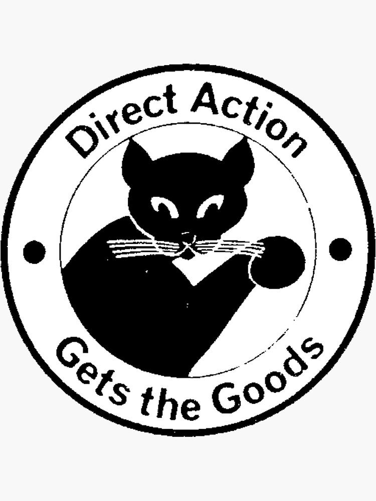 La acción directa obtiene los bienes - Anarquista Black Cat Logo de dru1138