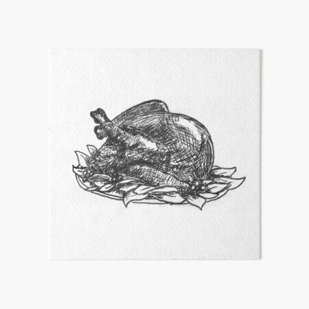 Roasted (Inktober 2018 #3) Art Board Print