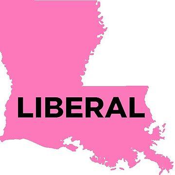 Liberal  Louisiana - light pink by wokesouth