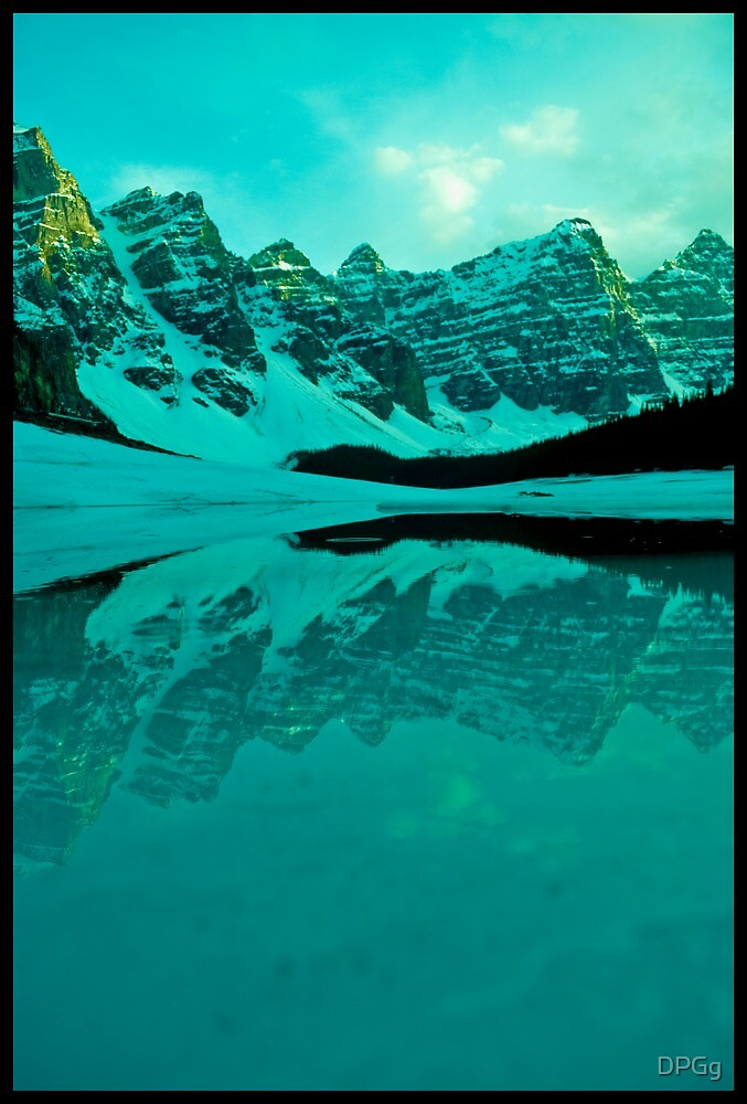 Walking on Water...and Ice - Moraine Lake, Alberta by DPGg
