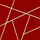 Velvet Red and Gold Criss-Cross Thick by GrumpyBoobsArt